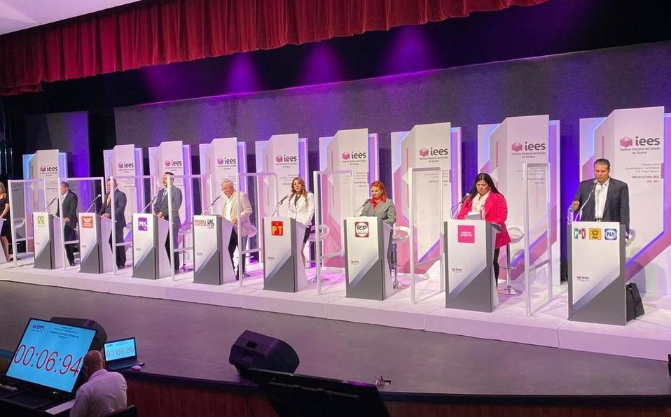 Primer debate entre candidatos a la Gubernatura de Sinaloa