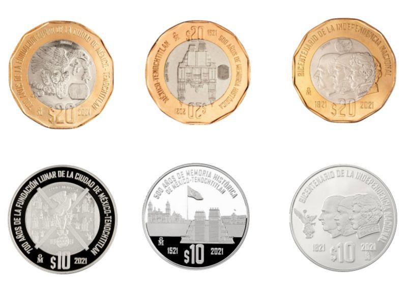 Conoce las monedas conmemorativas por Bicentenario de la Independencia